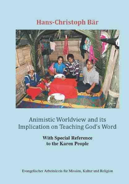 Animistic World View and its Implication on Teaching God's Word